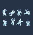 cartoon astronaut dancing party cosmonaut retro vector image vector image