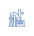 chinese skyscrapers line icon concept chinese vector image vector image