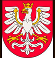 coat of arms of lesser poland voivodeship in vector image vector image