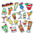 cocktails and drinks set for stickers badges vector image