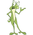 Cute Green Frog Cartoon Character vector image vector image