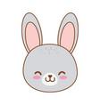 cute rabbit woodland character vector image