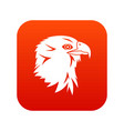 eagle icon digital red vector image vector image