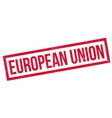 European Union rubber stamp vector image