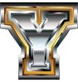 Fancy font Letter Y vector image vector image
