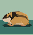 flat design lemming vector image vector image