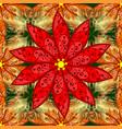 flat flower elements design seamless background vector image