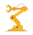 flat robot arm welding at factory line modern vector image vector image