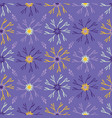 flower bloom petals pattern purple yellow vector image