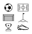 football soccer icon vector image vector image