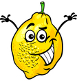 funny lemon fruit cartoon vector image
