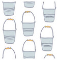 garden empty tin bucket seamless pattern vector image vector image