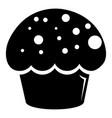 glaze cupcake icon simple black style vector image vector image