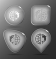 Globe and shamoo Glass buttons vector image vector image