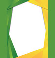 green and yellow triangle frame border vector image