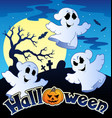 halloween scenery with sign 2 vector image vector image