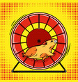 Hamster in the wheel pop art