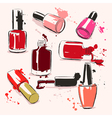 Hand drawing with nail polish vector image vector image