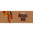 happy africa day banner african papercut woman