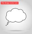 icon symbol cloud mystey flat design describes vector image vector image