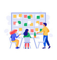 kanban board teamwork briefing scheme scrum vector image vector image