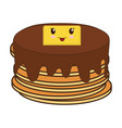 kawaii pancakes food icon vector image vector image