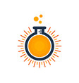 lab sun logo icon design vector image vector image