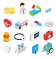 Medical isometric 3d symbols collection vector image vector image
