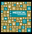 medical square design background vector image vector image