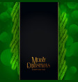 merry christmas festival greeting with text space vector image vector image
