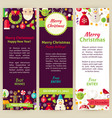 Merry Christmas Party Invitation Template Flyer vector image vector image