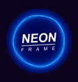 neon frame round shape vector image vector image