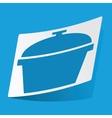 Pan sticker vector image vector image