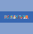 passover concept word art vector image vector image
