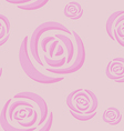 Pattern of light pink roses vector image vector image