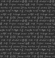 Physics formulas seamless background vector image vector image