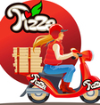 pizza delivery9 vector image vector image