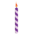 Purple birthday candle vector image vector image