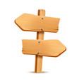 realistic wooden signboard arrow signpost