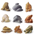 Rocks Stones Collection vector image