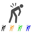 sciatica back pain flat icon vector image