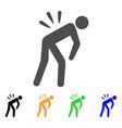 Sciatica back pain flat icon
