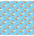 Seamless pattern with colored pills on blue vector image
