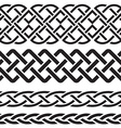set celtic pattern borders vector image