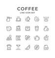 set line icons coffee vector image