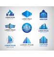 set of blue modern office company vector image vector image