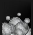 silver shiny balls silver vector image