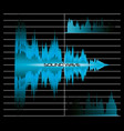 sound wave design vector image vector image