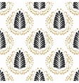 Stylized damask leaf or feather seamless pattern vector image vector image