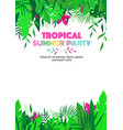 summer party tropical floral poster vector image vector image